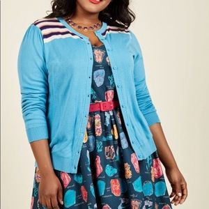 Modcloth Bolder at the Shoulders Cardigan Sweater